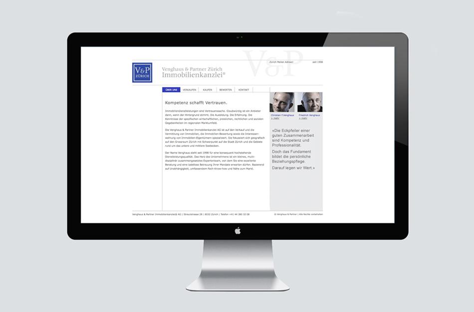 Venghaus Immobilienkanzlei Webdesign Konzept realisation