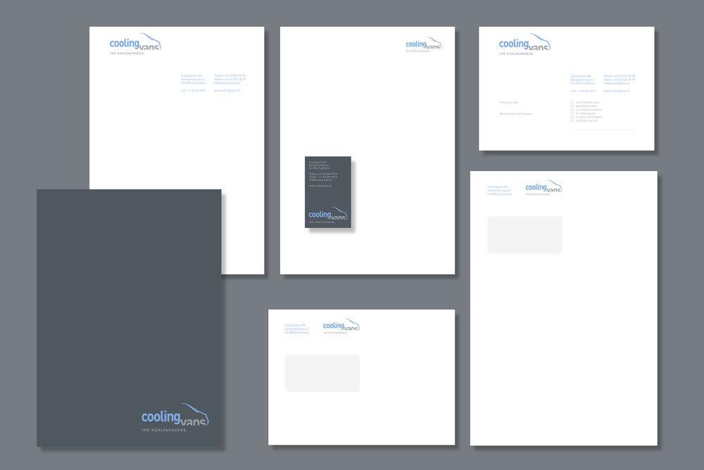 Coolingvans Kühlfahrzeuge Corporate Design