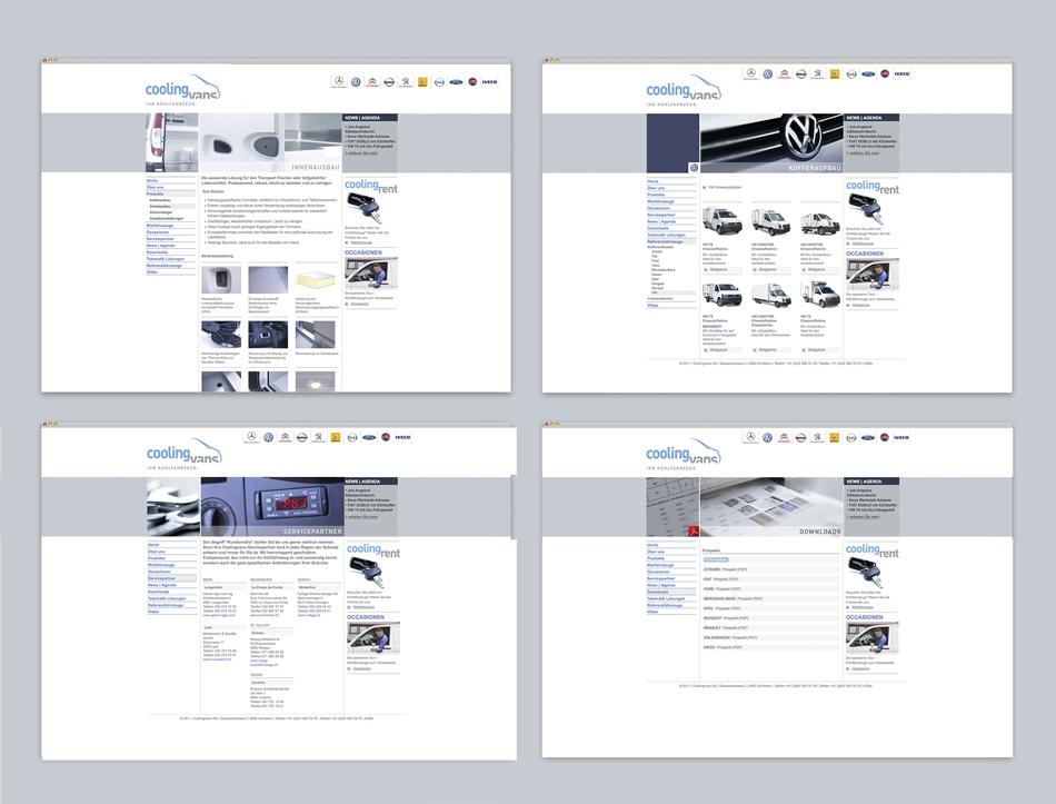 Coolingvans Kühlfahrzeuge Webdesign