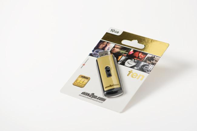 disk2go TEN USB Stick Jubilaeums Packagingdesign