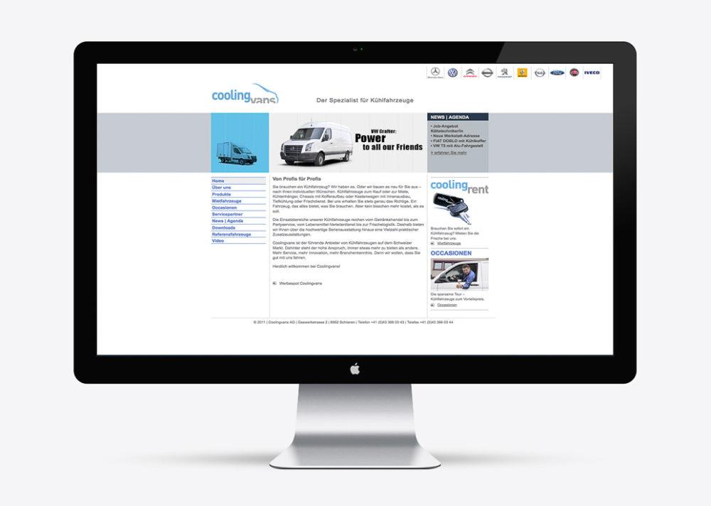 Coolingvans Kühlfahrzeuge Webdesign Peter Kaelin