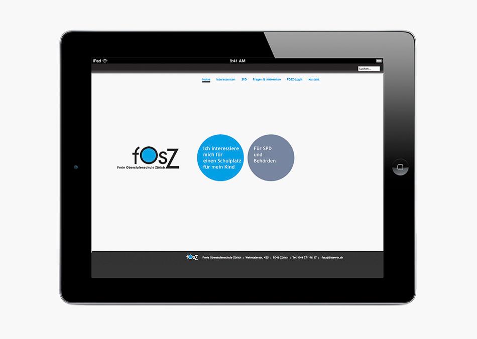 FOSZ Konzept und Webdesign