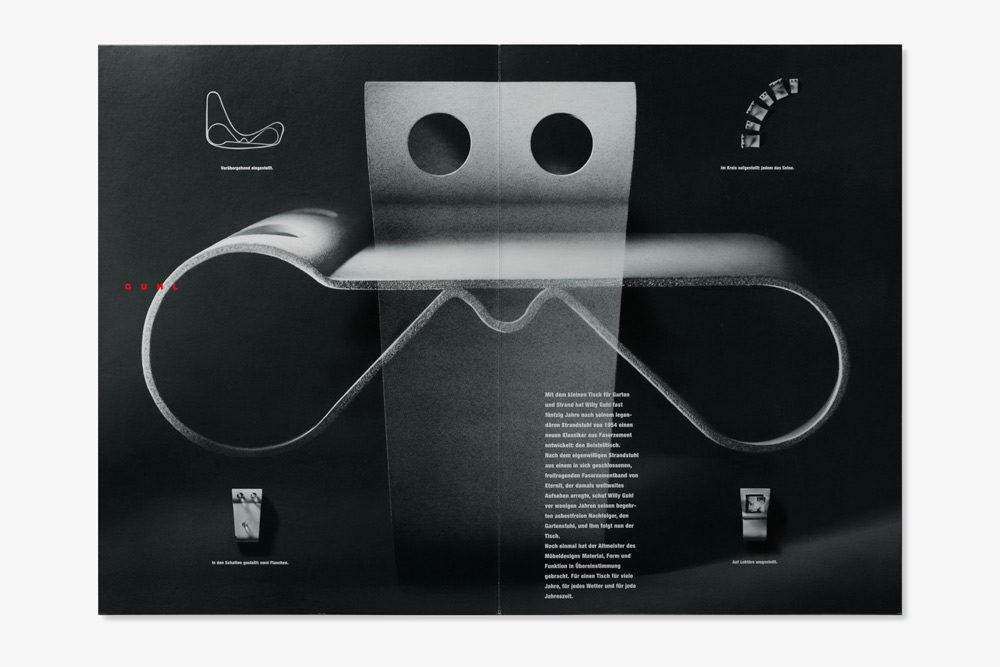 Eternit (Schweiz) Wohnbedarf Prospekt Willy Guhl Beistelltisch Faserzement