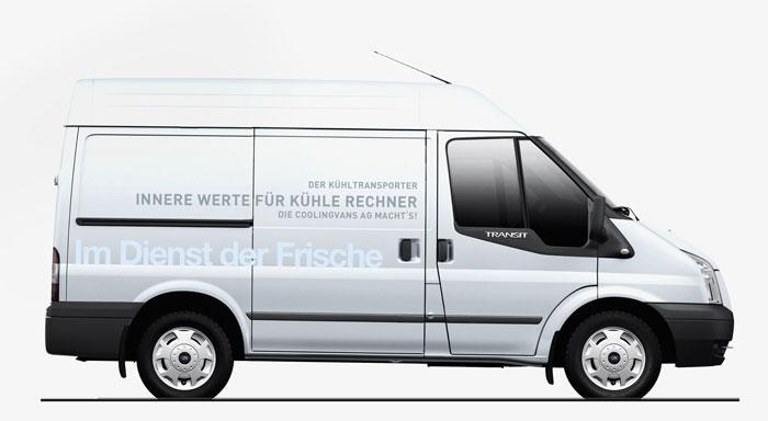 Coolingvans Kühlfahrzeuge | Fahrzeugbeschriftung Alianz Th Willy AG – Coolingvans